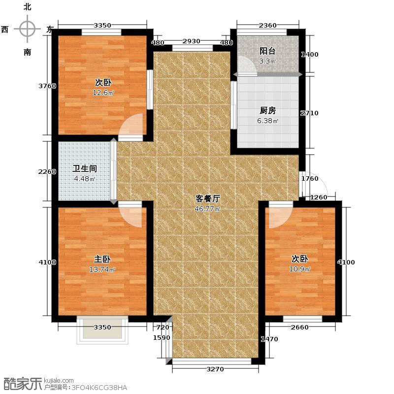 银亿万万城114.00㎡C1户型3室1厅1卫1厨