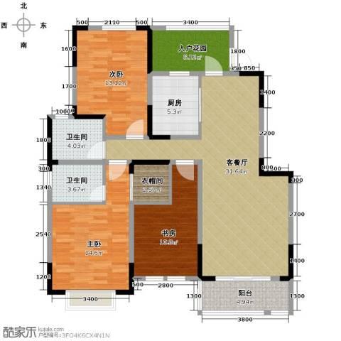 华菁水苑123.00㎡户型图