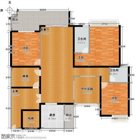 保利外滩一号3室2厅2卫0厨172.25㎡户型图