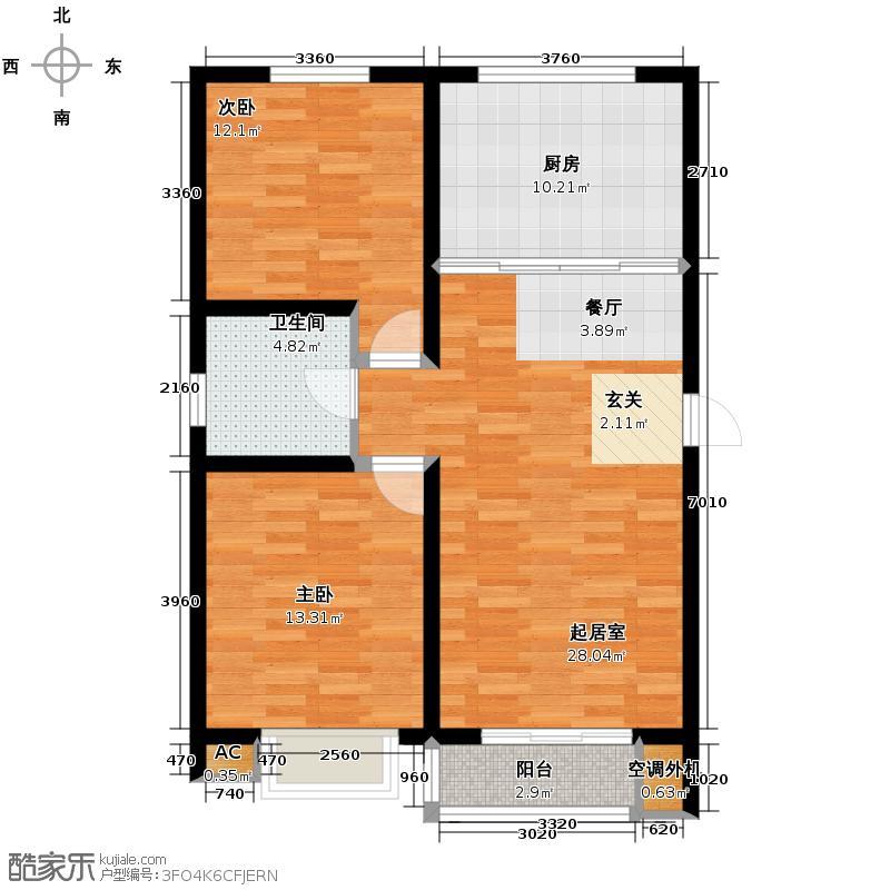 永盛水调歌城95.18㎡23-J户型10室