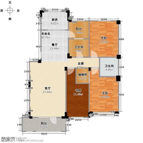 澳海西湖印象3室0厅2卫1厨125.00㎡户型图