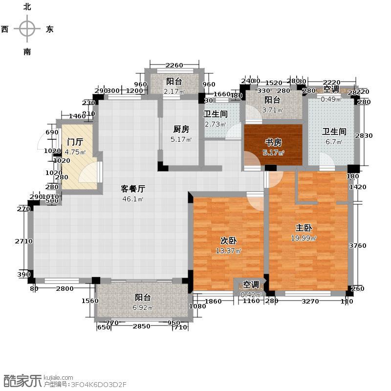 金科城3.00㎡墅质洋房3层户型10室