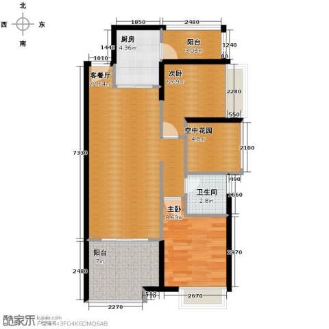 保利外滩一号2室2厅1卫0厨75.00㎡户型图