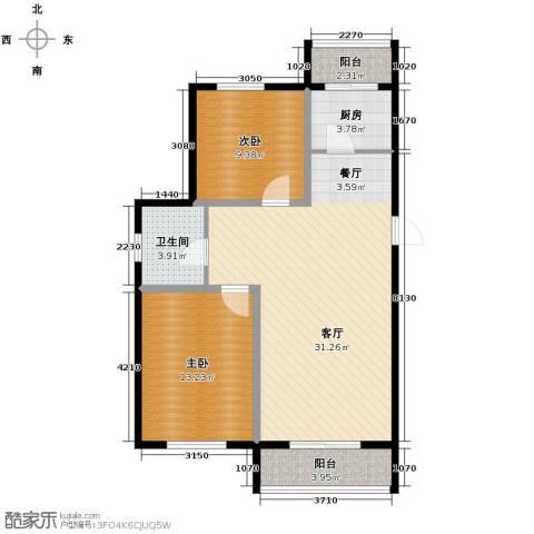 景星花园2室2厅1卫0厨76.27㎡户型图