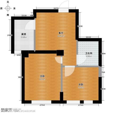 乐城2室2厅1卫0厨55.00㎡户型图