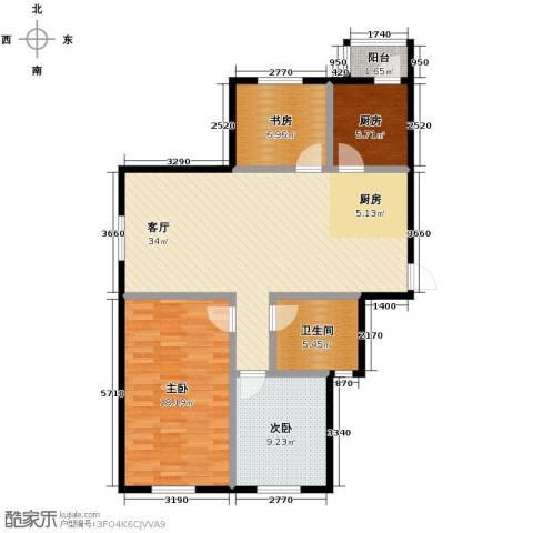 景星花园2室2厅1卫0厨90.88㎡户型图