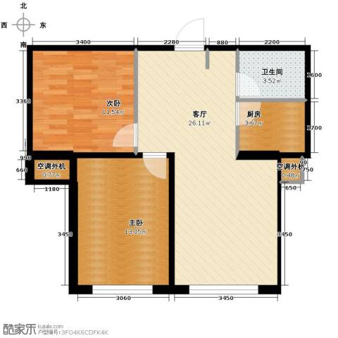 文华街三号院2室2厅1卫0厨66.50㎡户型图