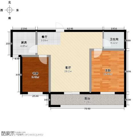景星花园2室2厅1卫0厨70.67㎡户型图