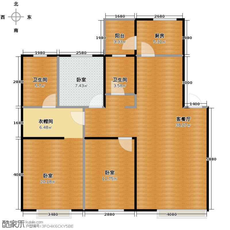 金沙枫景尚城118.46㎡户型10室