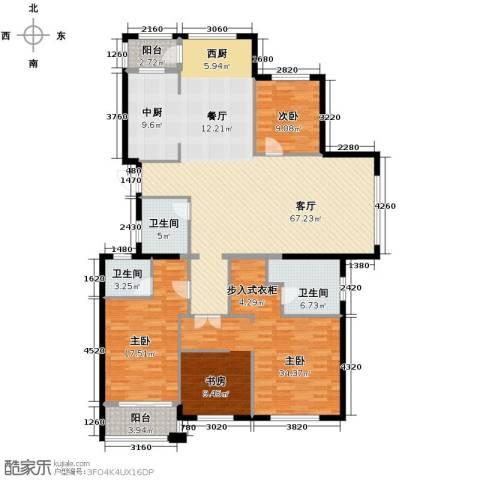 绿都四季华庭3室1厅3卫0厨168.00㎡户型图