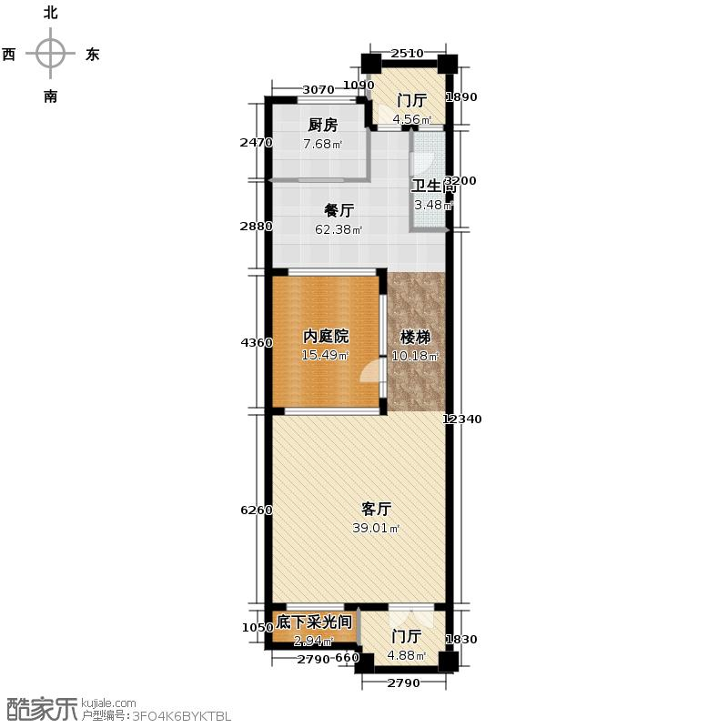 百家乐西园114.28㎡E一层户型10室