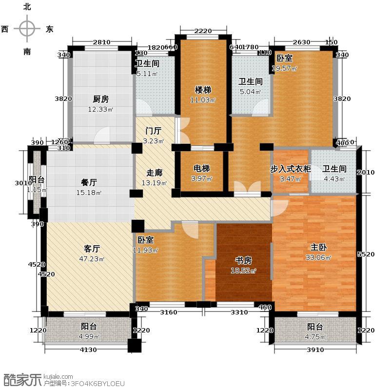 百家乐西园189.34㎡平层官邸二四层户型10室