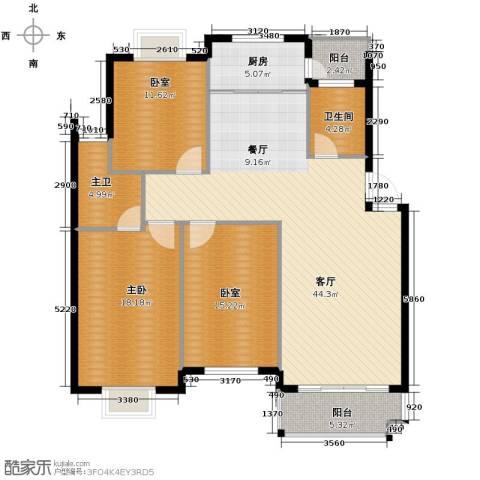 京华城怡景苑1室1厅1卫1厨153.00㎡户型图