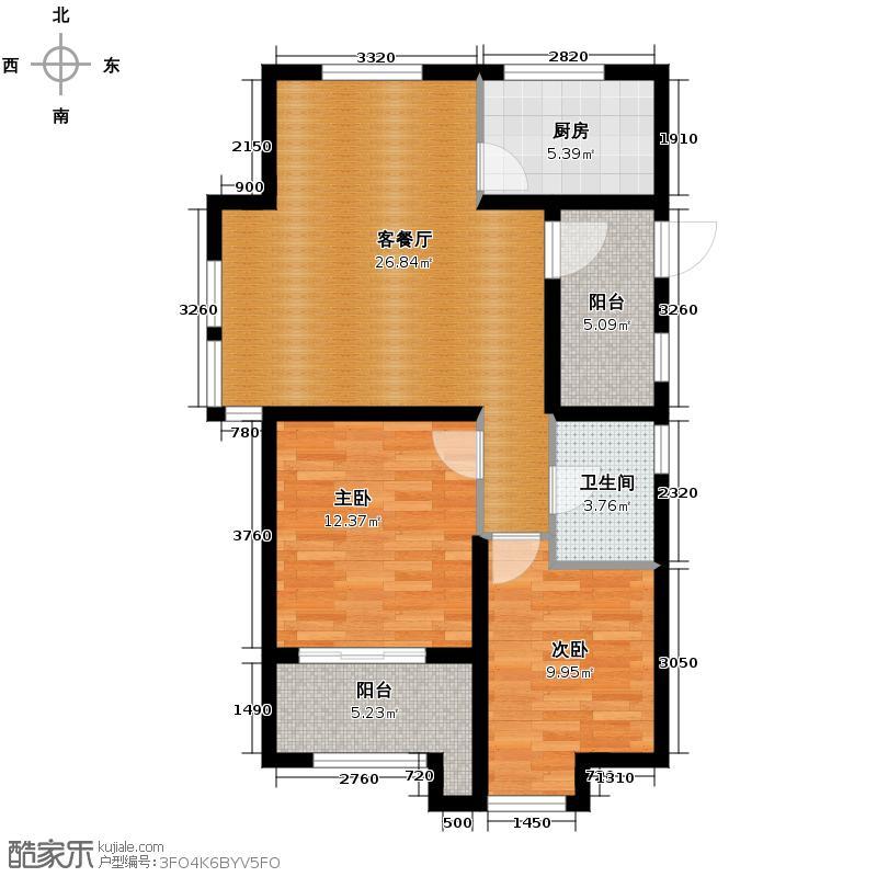 金都夏宫87.00㎡夏宫荷院3号楼C4户型3室2厅1卫