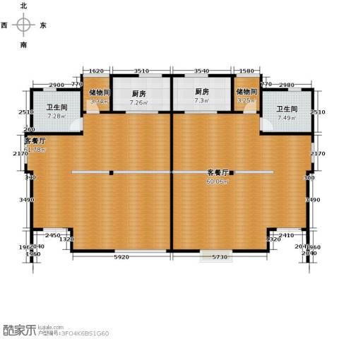 海景华苑2厅2卫2厨214.00㎡户型图