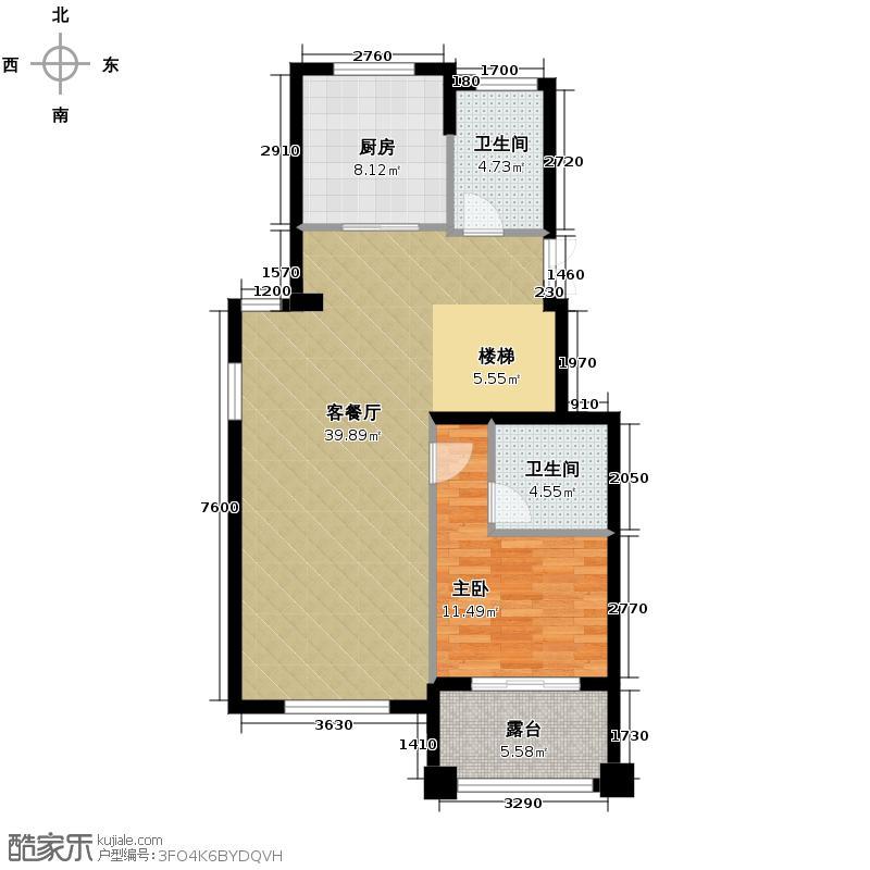 百家乐西园166.00㎡跃层官邸标准层下户型10室