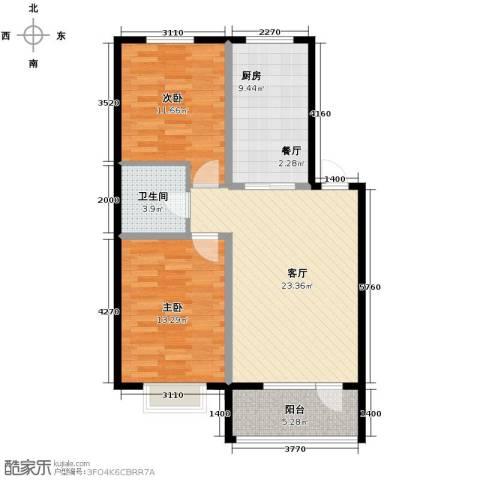 香醇・波尔多2室2厅1卫0厨84.00㎡户型图