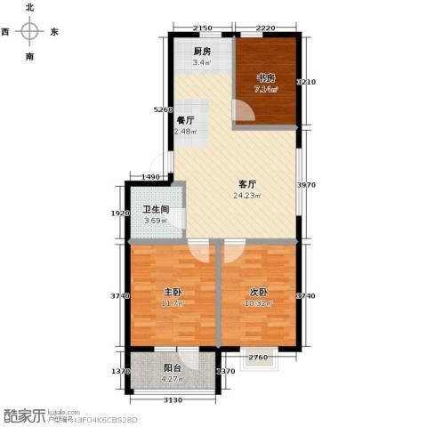 香醇・波尔多3室2厅1卫0厨73.00㎡户型图