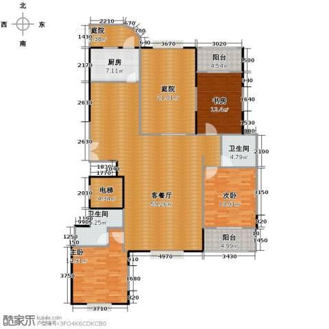 益华御才湾3室1厅2卫1厨183.00㎡户型图