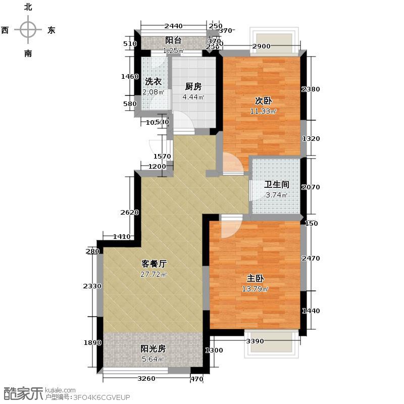 保利心语花园92.00㎡B户型10室