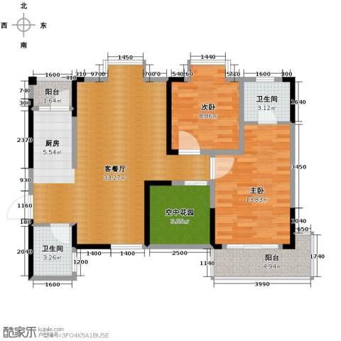 城郊涉外桃源2室1厅2卫0厨97.00㎡户型图