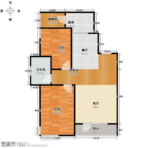 惠盛苑2室0厅1卫1厨101.00㎡户型图