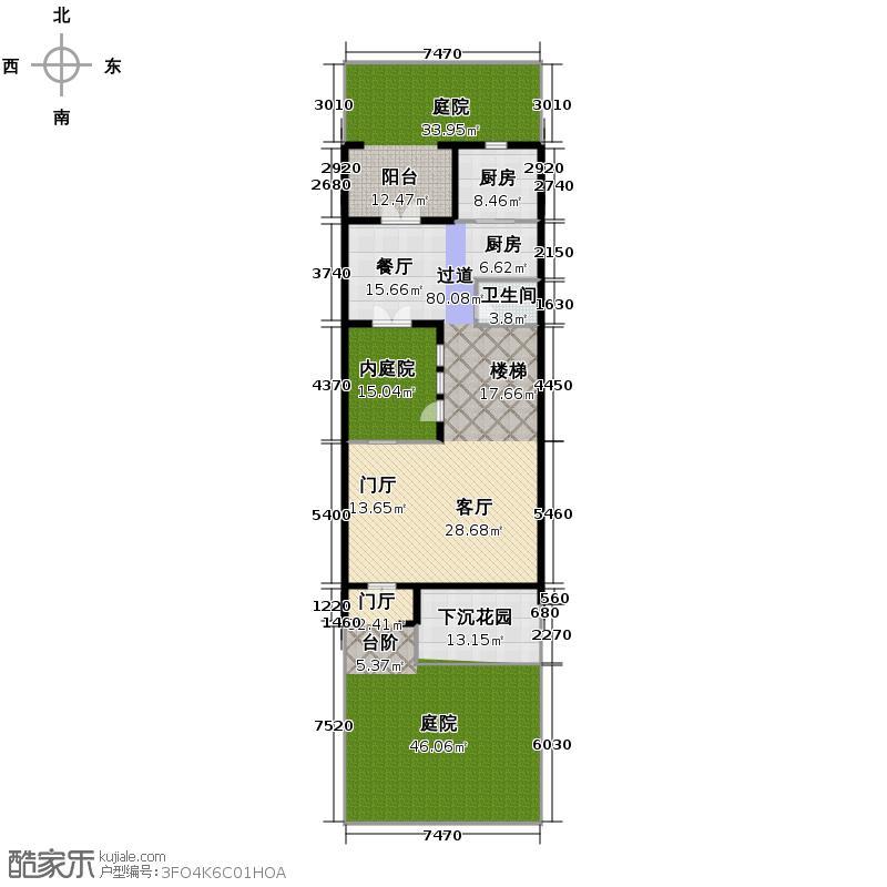 金都夏宫222.88㎡南入六联排屋6#房号2-2户型10室
