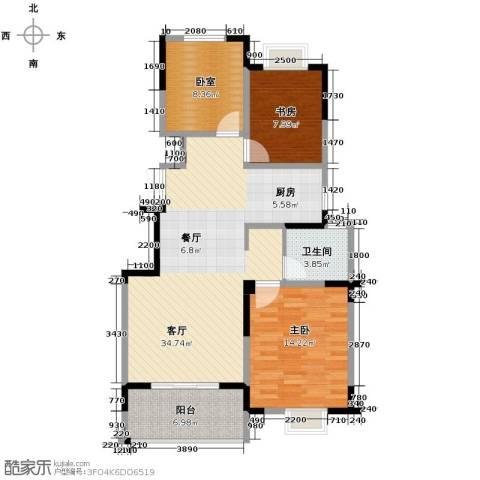 王子公馆2室1厅1卫0厨107.00㎡户型图