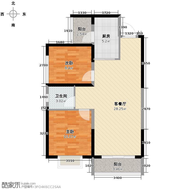 万科金域缇香68.72㎡B户型10室