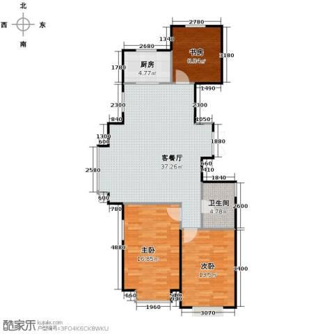 惠盛苑3室1厅1卫1厨118.00㎡户型图