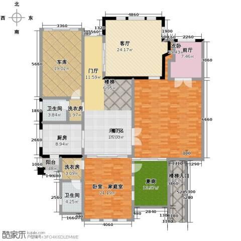 山水华门1室1厅2卫1厨355.00㎡户型图