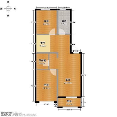 巴黎春天2室1厅1卫0厨72.00㎡户型图