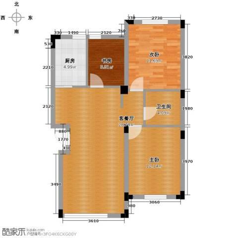 泰莱香榭里3室1厅1卫1厨95.00㎡户型图