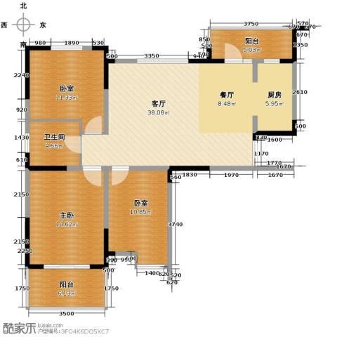 王子公馆1室1厅1卫0厨125.00㎡户型图