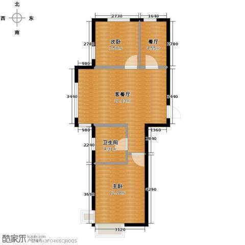 巴黎春天2室2厅1卫0厨65.00㎡户型图