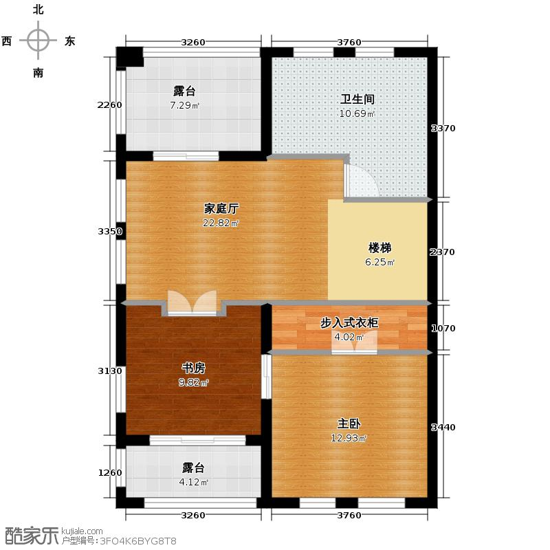 百家乐西园81.42㎡J三层户型10室