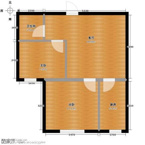 巴黎春天2室2厅1卫0厨58.00㎡户型图