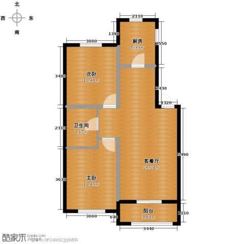 巴黎春天2室2厅1卫0厨76.00㎡户型图