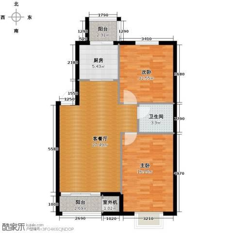 天和人家2室2厅1卫0厨100.00㎡户型图