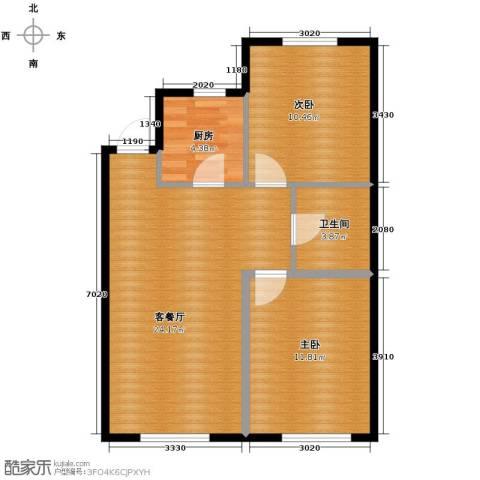 巴黎春天2室1厅1卫0厨83.00㎡户型图