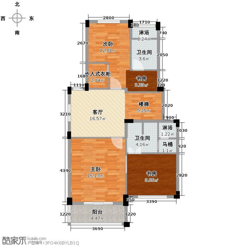 百家乐西园82.03㎡跃层官邸标准层上户型10室