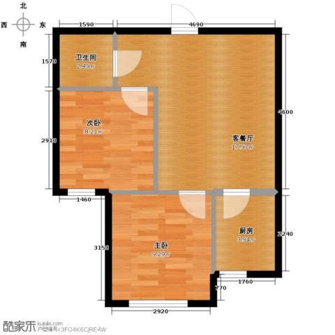 巴黎春天2室1厅1卫0厨63.00㎡户型图