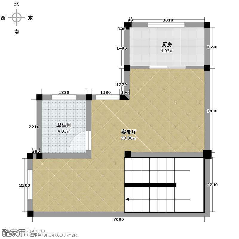 雅仕兰庭西郊公馆283.19㎡双排别墅B1夹层户型10室