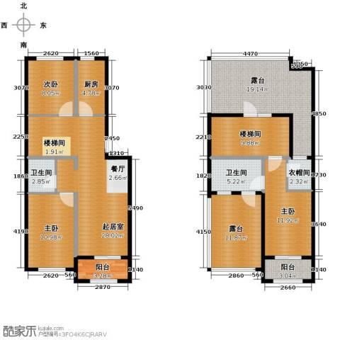 巴黎春天3室2厅2卫0厨121.35㎡户型图