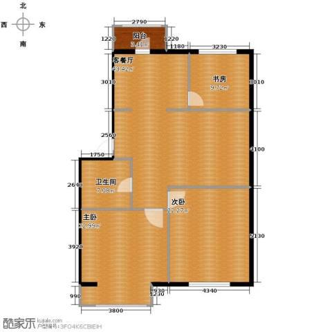 秀水花城3室1厅1卫0厨108.90㎡户型图