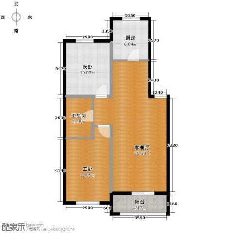 巴黎春天2室1厅1卫0厨81.00㎡户型图