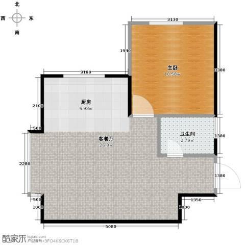 惠盛苑1室1厅1卫0厨50.00㎡户型图