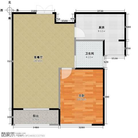 瑞宝国际花苑1室2厅1卫0厨82.00㎡户型图