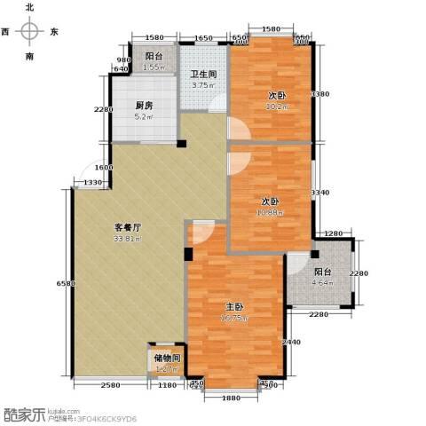 天和人家3室2厅1卫0厨110.00㎡户型图