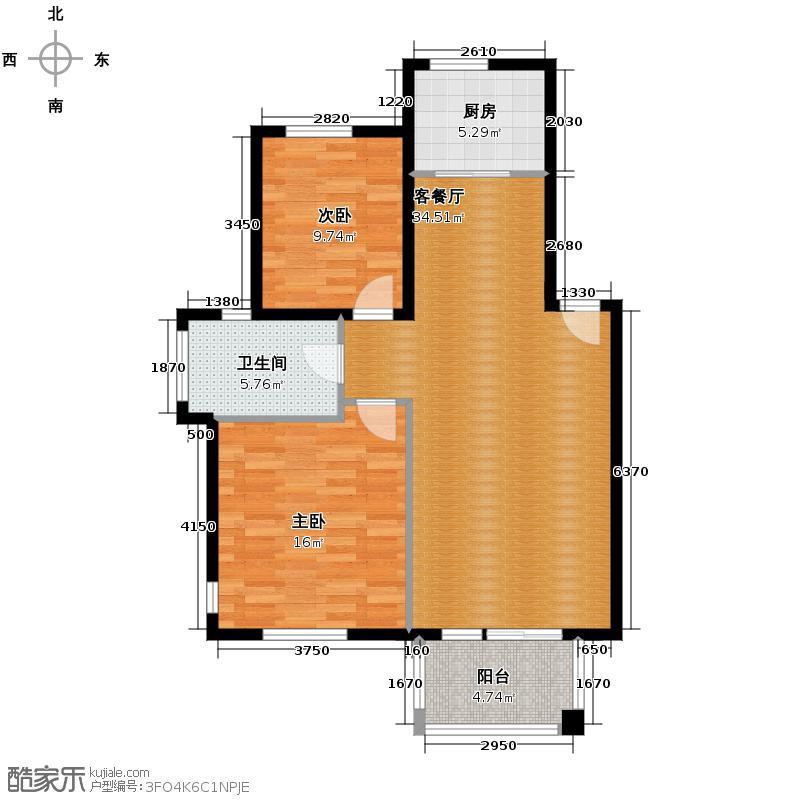 绿城紫桂公寓84.64㎡A2户型10室